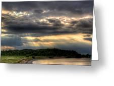 Art For Crohn's Lake Ontario Sun Beams Greeting Card by Tim Buisman