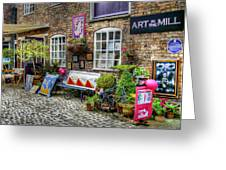 Art In The Mill Greeting Card by Michael Braham