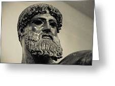 Artemision Zeus Greeting Card by David Waldo
