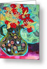 Artful Jug Greeting Card by Diane Fine