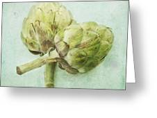Artichokes Greeting Card by Priska Wettstein