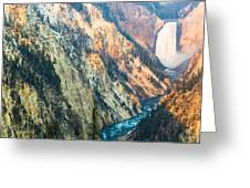 Artist Point - Yellowstone Park Horizontal Greeting Card by Andres Leon