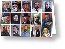 Artist Portraits Mosaic Greeting Card by Tom Roderick