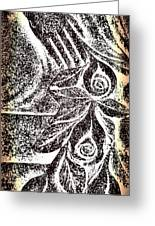 Artistic Hand And Flowers Greeting Card by Pat Exum