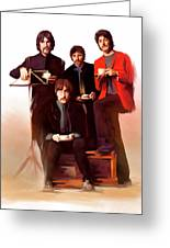 Artistic Masters The Beatles  Greeting Card by Iconic Images Art Gallery David Pucciarelli