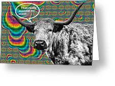 Arty Coo Really Mooved Greeting Card by John Farnan