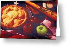 As American As Baseball And Apple Pie Greeting Card by Lianne Schneider