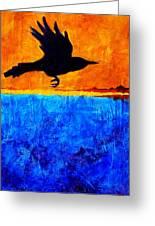As The Crow Flies Greeting Card by Nancy Merkle