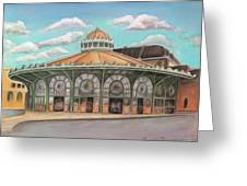 Asbury Park Carousel House Greeting Card by Melinda Saminski