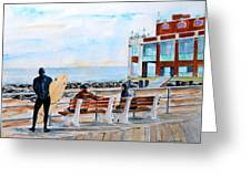 Asbury Park Surfers Greeting Card by Brian Degnon