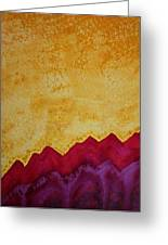 Ascension Original Painting Greeting Card by Sol Luckman