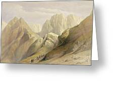 Ascent Of The Lower Range Of Sinai Greeting Card by David Roberts