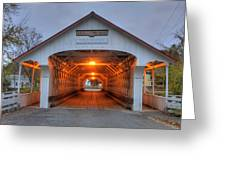Ashuelot Covered Bridge Greeting Card by Joann Vitali