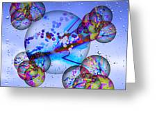 Asian Bubbles In Rain Greeting Card by Anthony Caruso