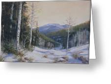 Aspen Trail Greeting Card by Mar Evers