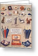 Asprey 1925 1920s Uk Asprey Gifts Greeting Card by The Advertising Archives