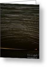 Assateague Star Trails Greeting Card by Benjamin Reed