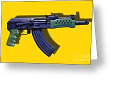 Assault Rifle Pop Art - 20130120 - V2 Greeting Card by Wingsdomain Art and Photography