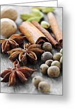 Assorted Spices Greeting Card by Elena Elisseeva