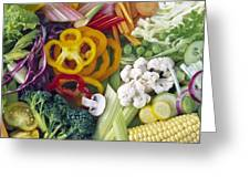 Assorted Vegetables Greeting Card by Science Photo Library