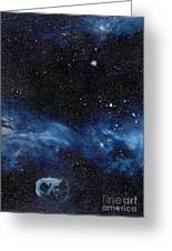 Asteroid With Attitude Greeting Card by Murphy Elliott