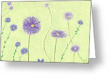Asters Greeting Card by Elizabeth Sullivan