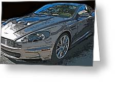 Aston Martin Db S Coupe 3/4 Front View Greeting Card by Samuel Sheats