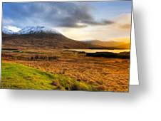 Astonishing Beauty Of Loch Tulla Greeting Card by Mark E Tisdale