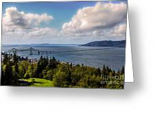 Astoria - Megler Bridge Greeting Card by Jon Burch Photography