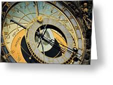 Astronomical clock in Prague Greeting Card by Jelena Jovanovic