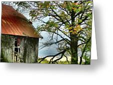 At the Barn Greeting Card by Julie Dant