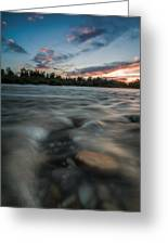 At The End Of The Day Greeting Card by Davorin Mance