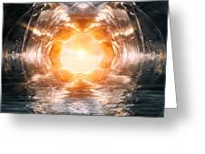 At The End Of The Tunnel Greeting Card by Wim Lanclus
