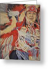 At The Powwow Greeting Card by Wanda Dansereau