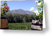 At The Rickety Bridge Winery Greeting Card by Barbie Corbett-Newmin