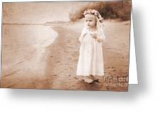 At the Waters Edge Greeting Card by Cindy Singleton