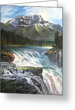 Athabasca Falls Greeting Card by LaVonne Hand