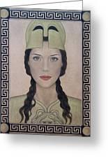 Athena Greeting Card by Lynet McDonald