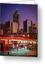 Atlanta Drive-in Greeting Card by Inge Johnsson
