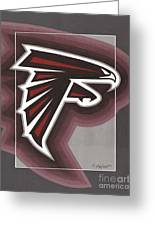 Atlanta Falcons Logo Greeting Card by Herb Strobino