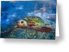 Atlantis Greeting Card by Debra and Dave Vanderlaan