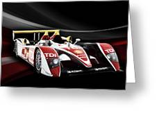 Audi R10 Greeting Card by Peter Chilelli