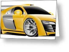 Audi Toon Digital Greeting Card by Lyle Brown