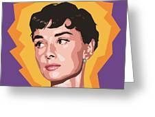 Audrey Greeting Card by Douglas Simonson