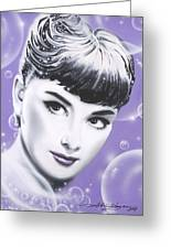Audrey Hepburn Greeting Card by Alicia Hayes