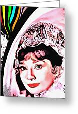 Audrey Hepburn In My Fair Lady Greeting Card by Art Cinema Gallery