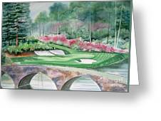 Augusta National 12th Hole Greeting Card by Deborah Ronglien