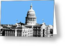 Austin Texas Capital - Sky Blue Greeting Card by DB Artist