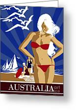 Australia Greeting Card by Shanina Conway
