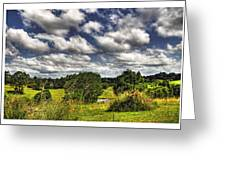 Australian Countryside - Floating Clouds Collage Greeting Card by Kaye Menner